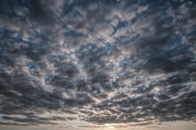 Sky With Dark Storm Clouds. Th...