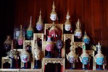 Panoramic View Of Khon Mask.