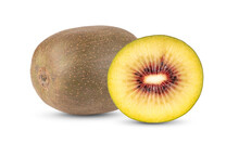 Red Kiwi Fruit On White Backgr...