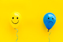 Depression And Happiness Backg...
