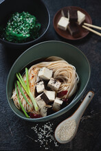 Bowl Of Udon With Chunks Of To...