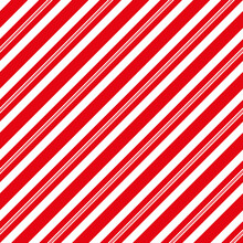 Christmas Candy Cane Stripes Seamless Red And White Pattern For Holiday Background