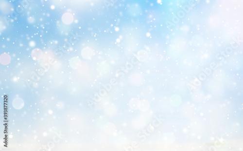 Fotomural light blue white winter snowflakes background 3d-illustration