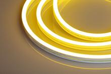 Flexible Yellow Led Neon Decor Christmas Light On Black Backgroung