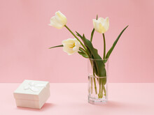 Bouquet Of Yellow Tulips In Va...