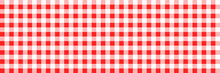 Checkered Pattern. Seamless Red Background. Vector Abstract