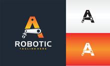 Initial A Robotic Logo