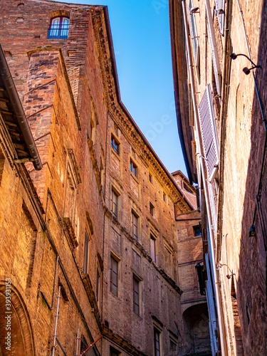 Fototapeta premium Medieval palaces in the historic center of the city of Siena (Italy)