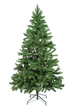 Artificial Fir Tree Closeup On White Background