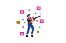 Musician Social Media Concept Design.