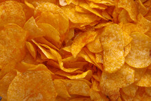 Potato Chips Or Crisps . Close...