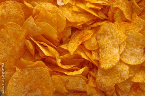 Potato chips or crisps Fotobehang