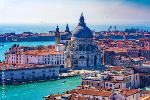 Fotografering Santa Maria della Salute Church Basilica Dome Venice Italy