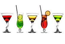 Set Of Multi-colored Cocktails...