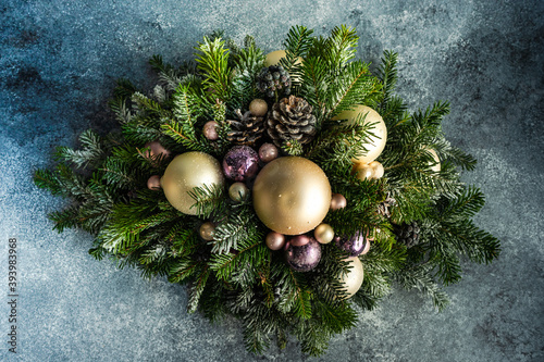 Obraz Christmas festive composition - fototapety do salonu