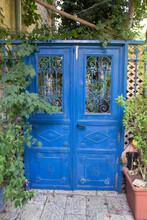 Blue Door In Jerusalem