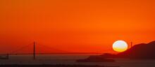 Sunset Over The Golden Gate Br...