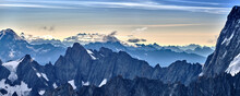 Panoramic View Of Snowcapped Mountains Against Sky During Sunset