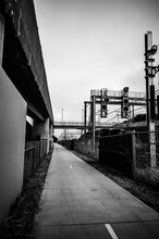 Black And White Railway Struct...