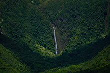 Scenic View Of Waterfall Amidst Trees