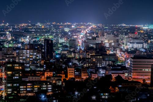 Obraz na plátně 米子市の夜景(鳥取県米子市)