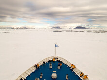 Bow Of Ship Trapped In Ice In ...