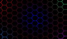 3D Illustration Elegant Blue Pentagon Crysis Background