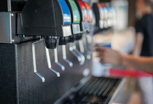 Close-up Of Soda Fountain In Restaurant