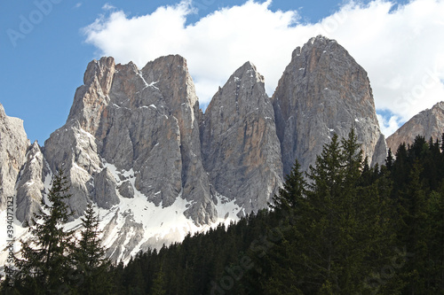 Fotomural Odle mountains, alps, dolomite area