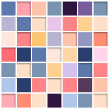 Mosaic Abstract Bacground, 3D Square Tiles Retro Colors Vector Design.