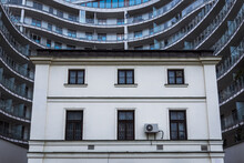 Old And Modern Buildings - Architectural Constrast In Warsaw, Capital City Of Poland
