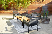 Outdoor Furniture In Back Yard