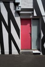 Pink Door On Street