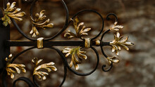 Wrought Iron And Golden Art De...