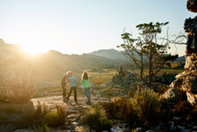 Hikers On A Rocky Outcrop At S...