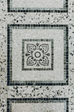 Mosaic Floor In Black, Grey An...