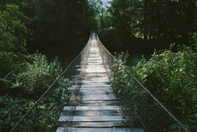 Suspended Wooden Bridge In Jun...