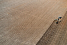 Tractor And Air Seeder Cropping Paddock