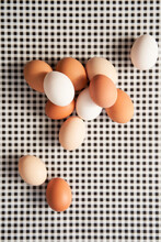 Eggs On Checkered Surface