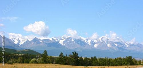 Mount Belukha, Altai Republic.  The Republic of Altai, Russia. Beautiful road in the Altai mountains. #394167526