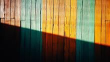 Full Frame Shot Of Multi Colored Wooden Fence