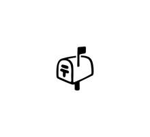 Mailbox Vector Isolated Icon Illustration. Mailbox Icon