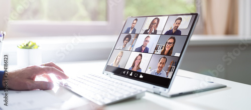 Fototapeta Video Conferencing Webinar Training Business Call