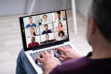 Panel Szklany Koszykówka Video Conference Online Call