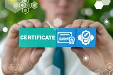 Certificate Business Education Achievement Concept. Professional Award Diploma Document.