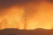 Wild Fire Smoke Tornado Hill Side