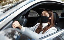 Businesswoman In Car Wearing F...