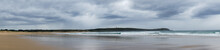 Panorama Of Frouxeira Beach And Lighthouse In Galicia