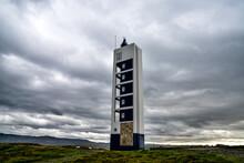 Punta Frouxeira Lighthouse Under A Gray Stormy Overcast Sky