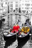 Romantic Venice. Canals and gondolas. Italy